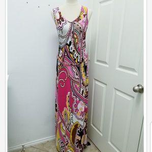 Cache Paisley Maxi Dress